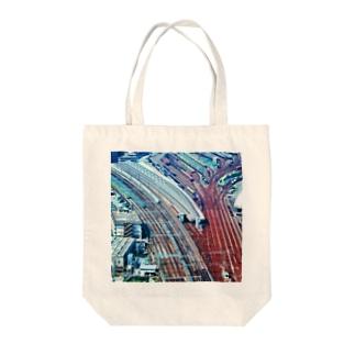東京都:新橋貨物駅の空撮写真 Tokyo: around Shinbashi Tote bags