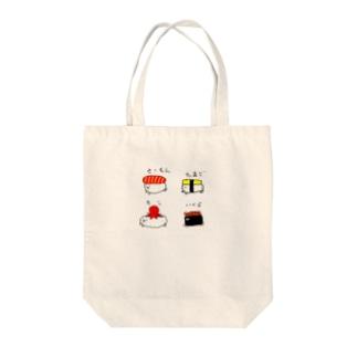 おしゅし Tote bags