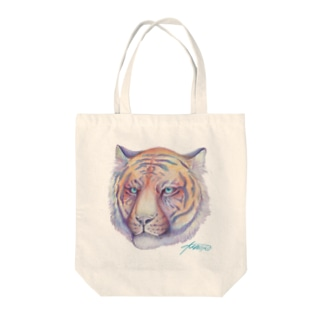 tropical tiger Tote bags