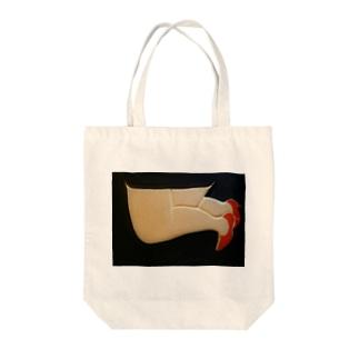 ひざまくら Tote bags