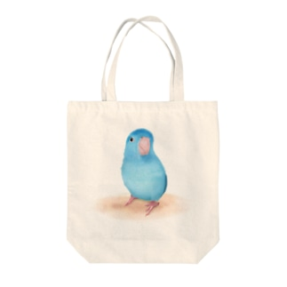 ブルーマメルリハ【まめるりはことり】 Tote bags