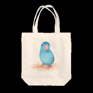 まめるりはことりのブルーマメルリハ【まめるりはことり】 Tote bags