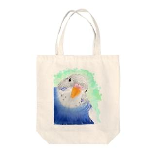 セキセイインコ オパーリン大【まめるりはことり】 Tote bags