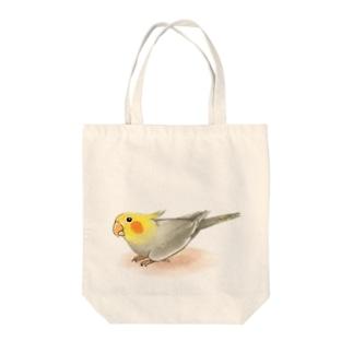 オカメインコ レキ【まめるりはことり】 Tote bags
