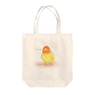 コザクラインコ レイ【まめるりはことり】 Tote bags