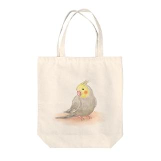 オカメインコ シナモン【まめるりはことり】 Tote bags