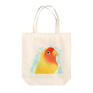 コザクラインコ ルチノー【まめるりはことり】 Tote bags