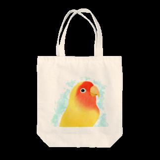 まめるりはことりのコザクラインコ ルチノー【まめるりはことり】 Tote bags