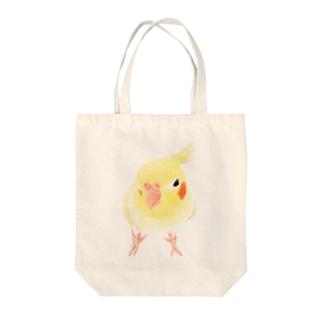 オカメインコ おすましルチノー【まめるりはことり】 Tote bags