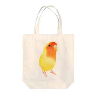 コザクラインコ おすましルチノー【まめるりはことり】 Tote bags