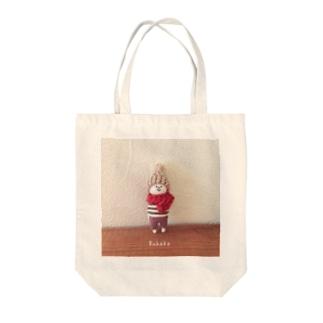 Ruhakoぼんぼりちゃん Tote bags