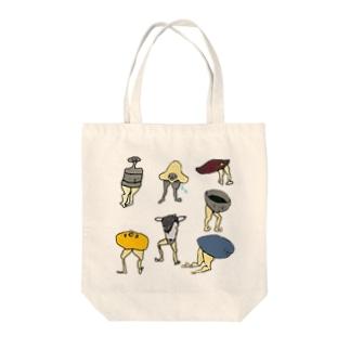 ケツアシセブン Tote bags