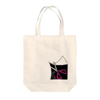 チョッキン‼︎( ´ ▽ ` )ノ Tote bags