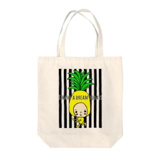 ぱいなぽだんさー Tote bags