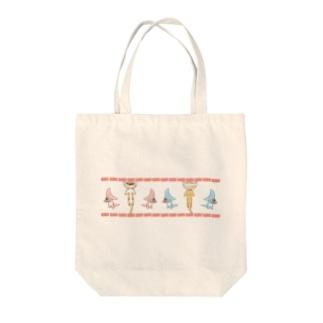 餃子とディプロカウルス Tote bags