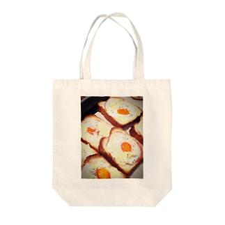 ハムエッグトースト Tote bags