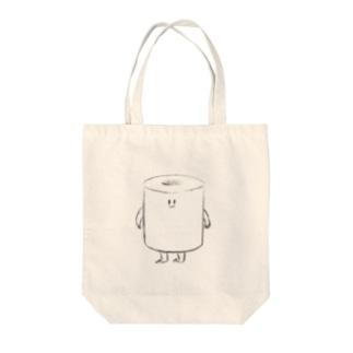 トイレットペーパーくん Tote bags