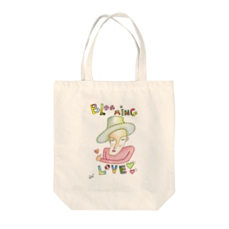 Blooming Love Tote bags