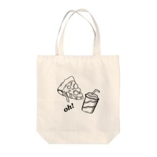 とけとけのピザ! Tote bags