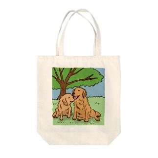 木漏れ日和のゴールデンレトリーバー Tote bags