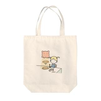 メンダコlovesパンケーキ Tote bags