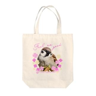 """""""すずめのおみせ"""" SUZURI店の東京すずめ(Feel so Good) Tote bags"""
