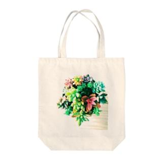 愛しの多肉ちゃん✨ Tote bags