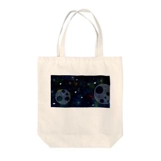 水彩宇宙 Tote bags