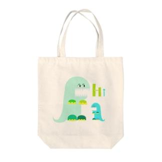 前歯育ち気味怪獣 Tote bags