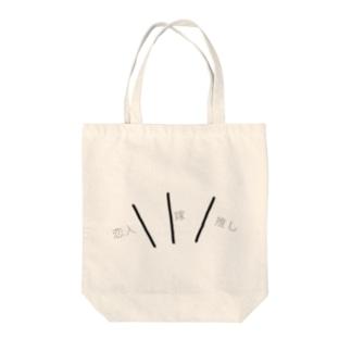 缶バッジで推し事相関図バッグ Tote bags