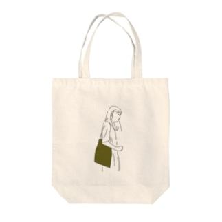 ヨコガオビジョ Tote bags
