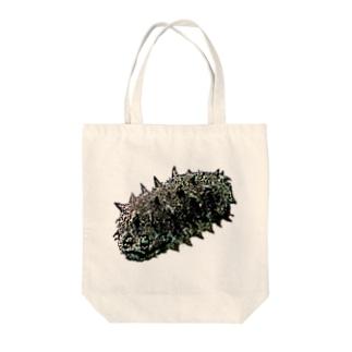 人面魚ならぬ人面海鼠 Tote bags