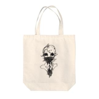 ぼたぼた Tote bags
