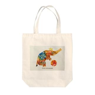 Happy Elephant Tote bags