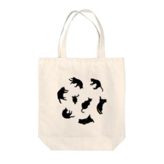 Kitties (Black Tote bags