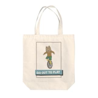 one 一匹狼一輪車 Tote bags