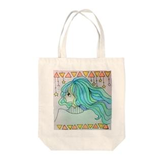 キラキラ 少女 Tote bags