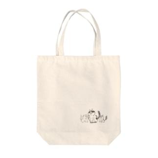 猫遊亭一門 Tote bags