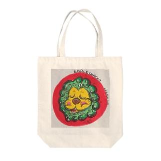 "RASPY"" WORLD PEACE Tote bags"
