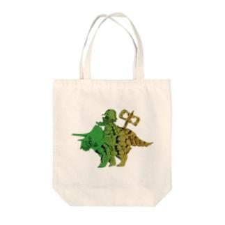 恐竜おもちゃくん透過 Tote bags