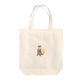 サウナ好きのカワウソ(ドット絵風) Tote bags