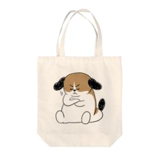 もじゃまる納得 Tote bags