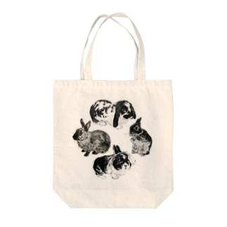 うさぎ環 Tote bags