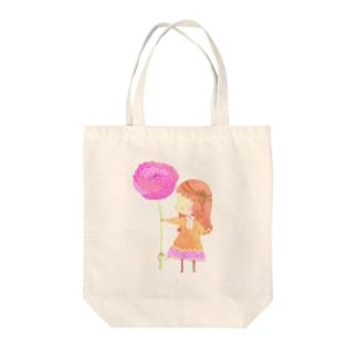 ポピー Tote bags
