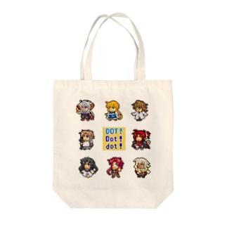 ドット絵キャラクター Tote bags