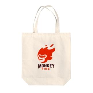 モンキーファイア Tote bags