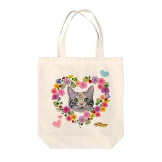 フラワーめいちゃん Tote bags