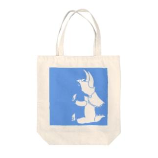 ぺぇねもんショップのトリケラトプス シルエット Tote bags