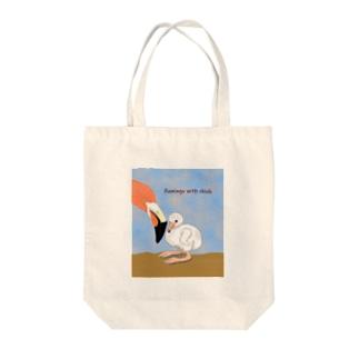 フラミンゴベビー Tote Bag