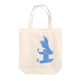 ちょこんとトリケラトプスくん Tote bags